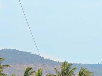 Zipline over the Kampot River in Cambodia