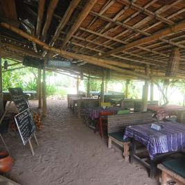 Restaurant at Escape3Points Ecolodge, Ghana