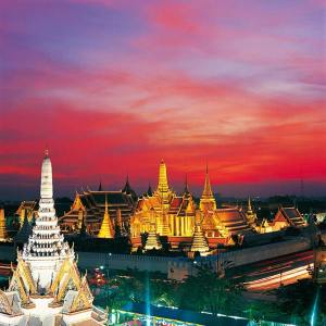 Wat Phra Kaew and Grand Palace in Rattanakosin, Bangkok