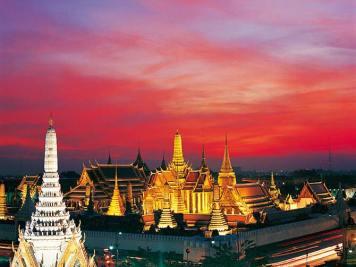 Wat Phra Kaew and Grand Palace in Rattanakosin, Bangkok