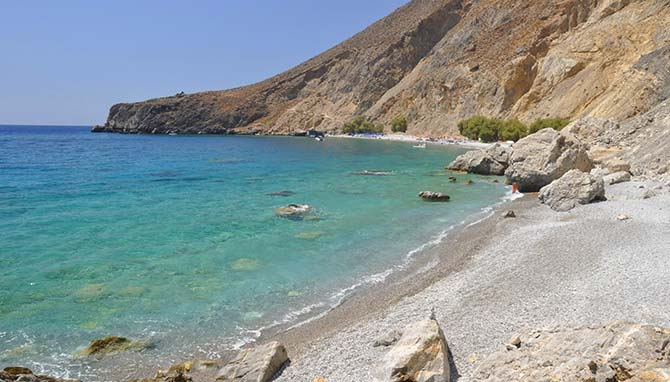 The amazing Crete beach of Glyka Nera