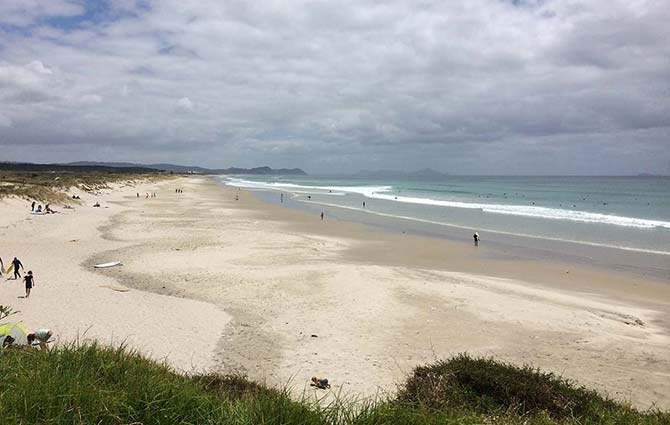 Te Arai beach in New Zealand