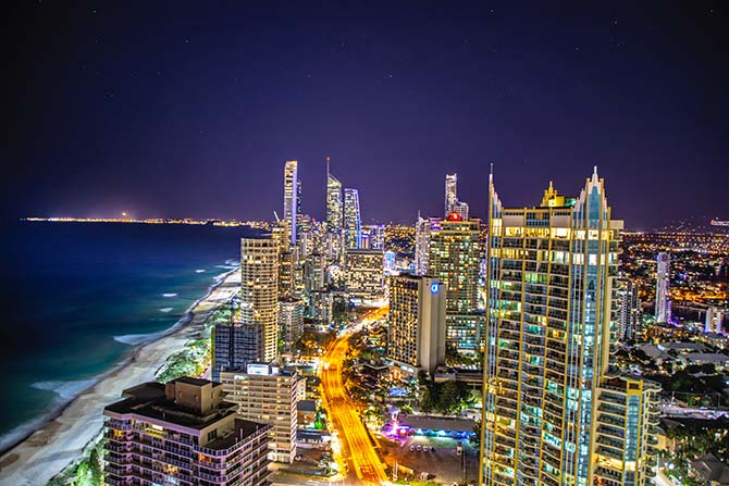 Surfer's Paradise night view