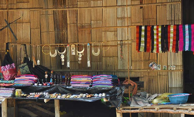 homemade tribal souvenirs from Southeast Asia