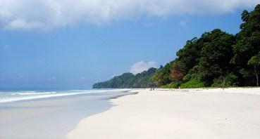 White sands at Havelock Beach, Ritchie's Archipelago