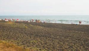 Black Sea Beach Ureki in Georgia