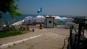 Blue Flag Beach in Odessa Ukraine