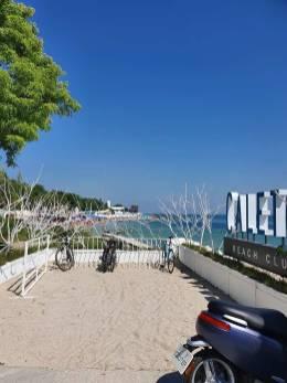 View of Odessa's beaches in Ukraine