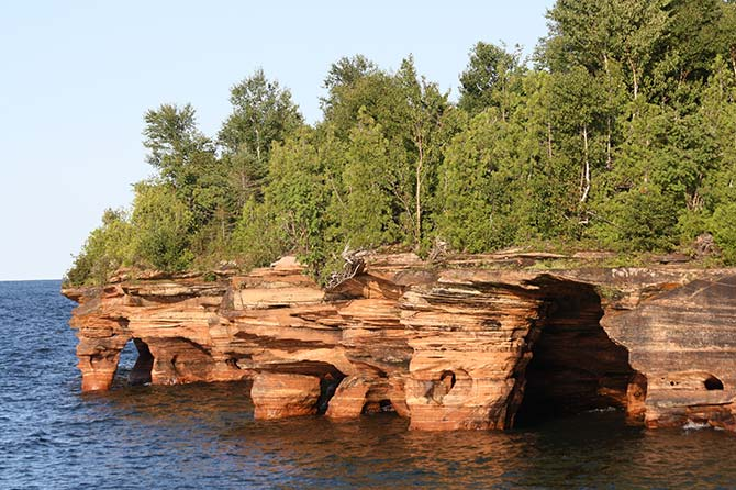 Devil Island Seacaves, Lake Superior, Wisconsin