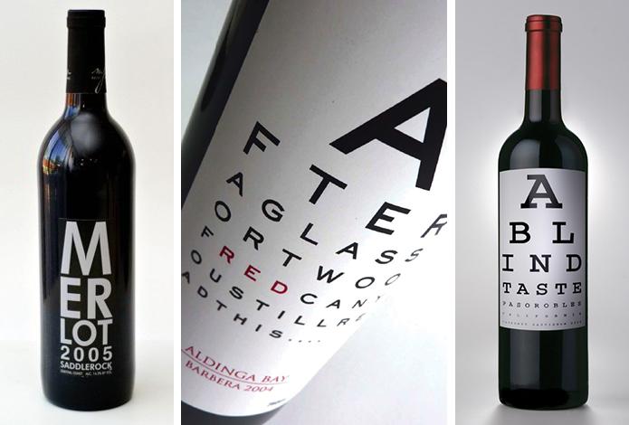 Eye Chart Wine Labels Beach