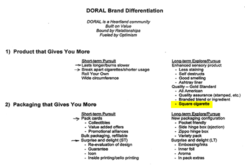 1999-DoralBrandDifferentiationReport