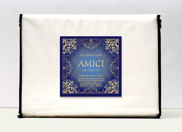 Amici-sheet-set-package-design