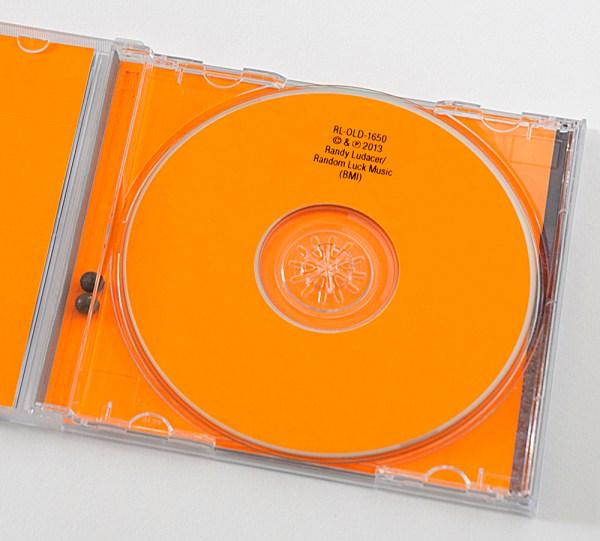 Fluorescent Orange Old! CD Packaging Design