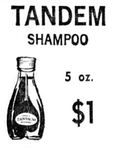 Tandem-Shampoo-Newspaper-Ad