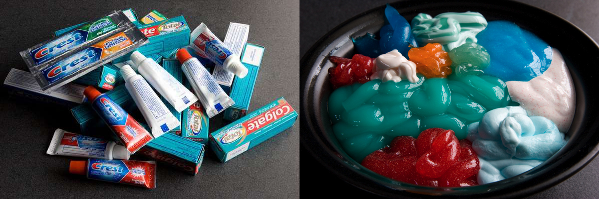 Mixing Toothpaste Brands Beach