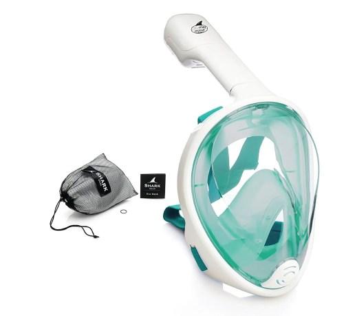 seafin green full face snorkel mask