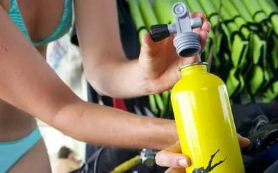 Scuba Diver Water Bottle