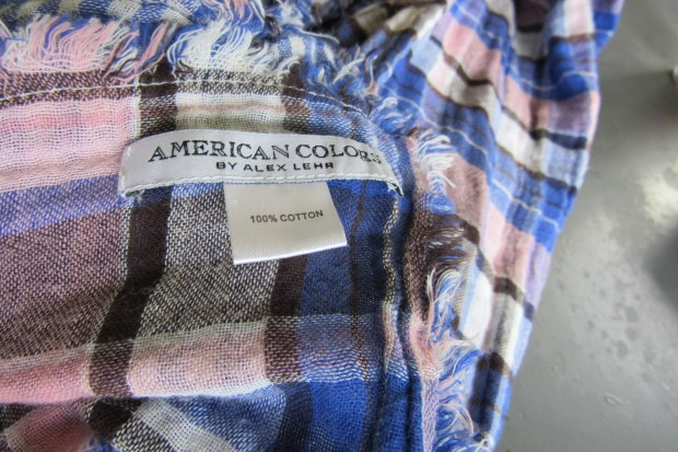 American Colors Plaid Scarf