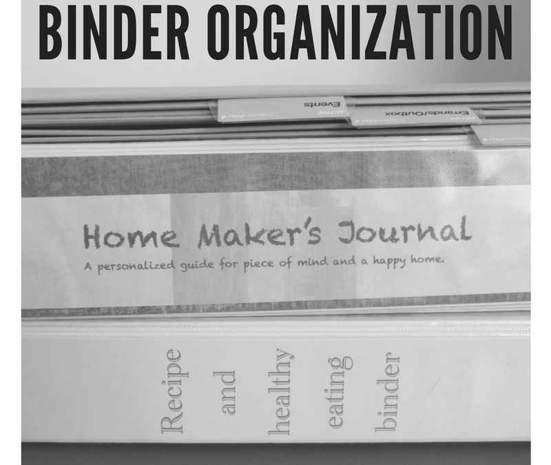 Paper Organization Series Part three – Binder Organization