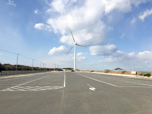 波崎海水浴場-駐車場
