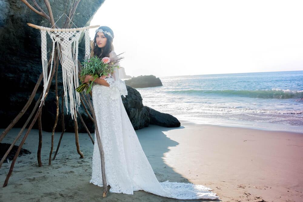 Handmade Boho Bridal Gowns For Your Beach Wedding Beach