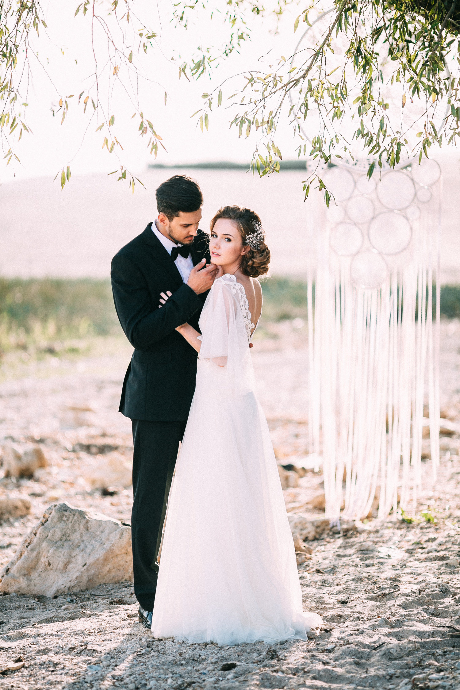 Dreamy Beach Wedding Styled Photo Shoot In Tender