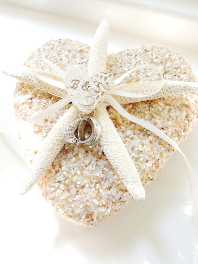 15 Beach Wedding Ring Holders Beach Wedding Tips