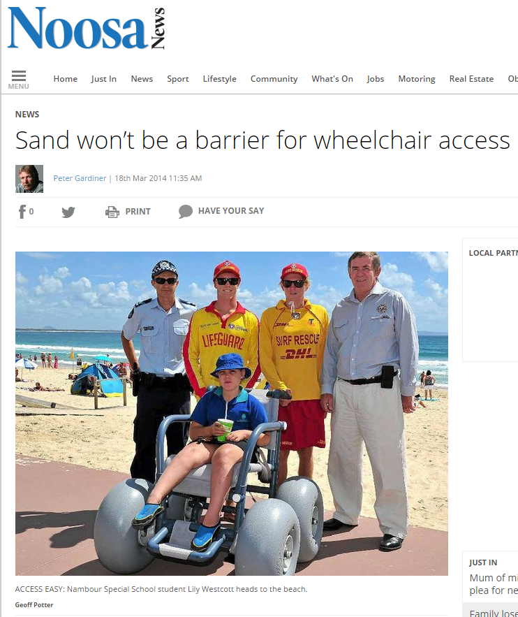 BWA All Terrain Chair in the news