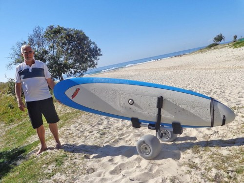 Carrier for Motorized Surfboard