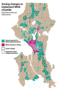 Seattle Zoning areas implemented