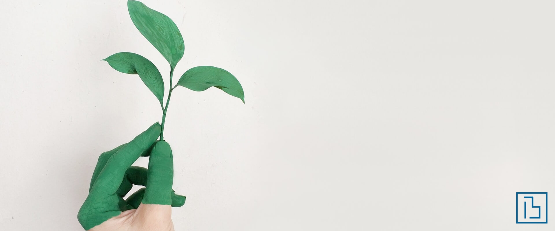 Hand Painted Green holding plant