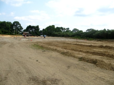 July 19, 2011 Grading the parking lot and drainage area.