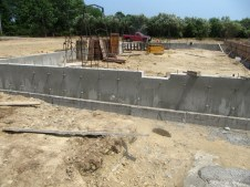 July 21, 2011 Poured foundation walls!