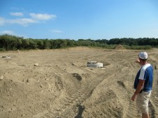 August 4, 2011 Pastor Bill explaining how the grading and parking lot will be.