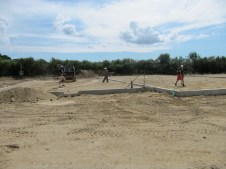 August 24, 2011 Getting the slab ready to be poured: Pastor Bill, Don, and Ray