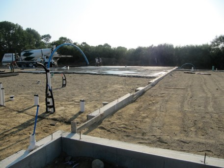 August 25, 2011 POURING THE FOUNDATION!!!!!
