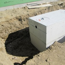 9/16/11 Another view of the grease trap.