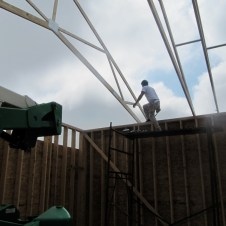 9/27/11 Steadying the truss.