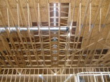 10/5/11 Valley trusses from the inside.