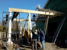 11/12/11 2 Columns up, trusses in progress.