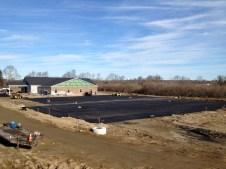 12/2/11 Binder coat of asphalt.