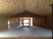 3/9/12 Insulation on auditorium ceiling and side walls–view from stage.