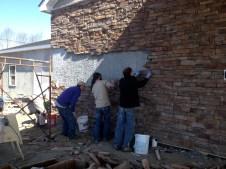 3/14/12 Matt, Matt, & Gordon putting stone up