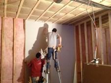 3/14/12 Sheetrock guys working hard