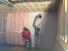 3/14/12 Putting sheetrock up in Sunday school rooms