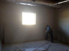 3/14/12 Sunday school room, sheetrock guy cutting the board