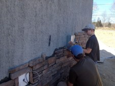 3/23/12 Pastor Bill & Billy putting up stone