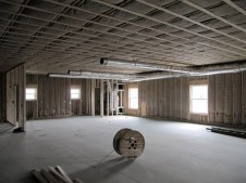 3/9/12 Insulation and Heat/AC ducts in fellowship hall.