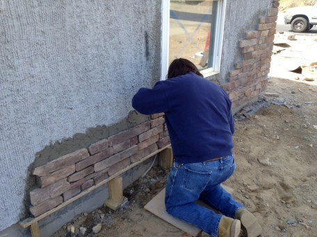 4/14/12 Frank building up the wall
