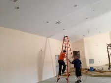 4/16/12 Electricians installing lights!!! Yay!